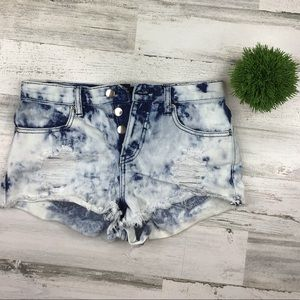Forever 21 Button Fly Shorts Size 25